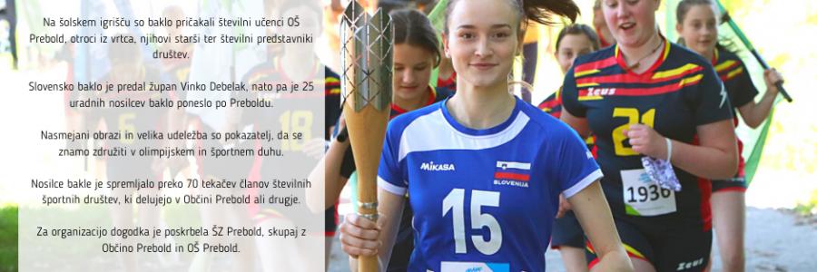 Slovenska bakla v Preboldu!